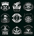 set car service badges labels logo vector image vector image