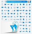 Set of veterinary stickers vector image vector image