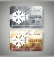 silver and gold christmas sale coupons vector image vector image