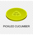 sliced pickled cucumber icon isometric style vector image vector image