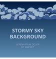 Stormy sky and clouds background woth room for vector image vector image