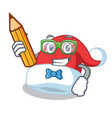 student christmas hat character cartoon vector image