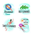 summer time keep calm and have fun isolated set vector image vector image