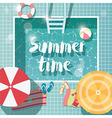 Swimming pool top view summer holiday vacation vector image vector image