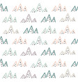 tribal mountains seamless pattern vector image vector image