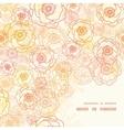 warm flowers frame corner pattern vector image vector image