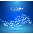 Wave of Air Bubbles vector image vector image