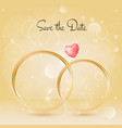 wedding background with rings and gemstone bokeh vector image vector image