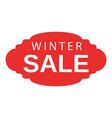 winter sale emblem icon isometric style vector image