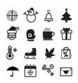 winter season icon symbol set vector image vector image