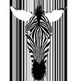 Zebra Barcode Face vector image vector image