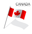 Simple Canada flag isolated on white background vector image