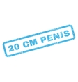 20 cm Penis Rubber Stamp vector image vector image