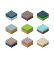 a set of isometric terrain vector image