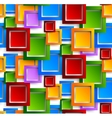 Abstract pattern with colorful squares vector image vector image
