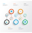 air flat icons set collection of storm vector image vector image