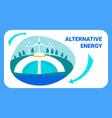 alternative energy flat banner template vector image vector image