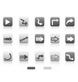 arrow square button set vector image vector image