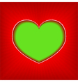 background with green heart vector image vector image