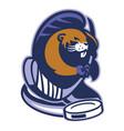 beaver mascot of ice hockey vector image vector image