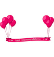 Best recommendations pink flat ribbon with vector image vector image