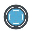blue gun aim icon flat style vector image vector image