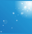 bokeh on bright blue sky beautiful sunny summer vector image