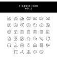business and finance icon outline set vol 2 vector image vector image