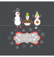 Christmas card with funny company vector image vector image