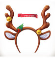 christmas mask with reindeer antlers 3d icon vector image vector image