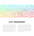 city transport line design template vector image vector image