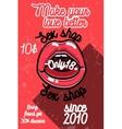 Color vintage sex shop banner vector image vector image