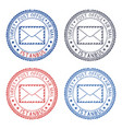 colored postal stamps istanbul turkey postmarks vector image vector image