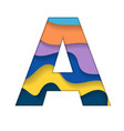 colorful letter a vector image vector image