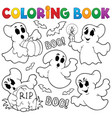 coloring book ghost theme 1 vector image vector image