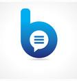 Communication business b logo concept
