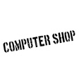 Computer Shop rubber stamp vector image