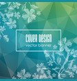 delicate transparent floral background vector image vector image