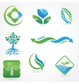 eco icons - logos vector image vector image