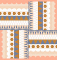 ethnic color block rows seamless pattern vector image
