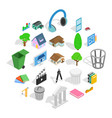 excellent house icons set isometric style vector image vector image