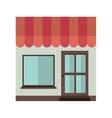 facade confortable house with sunshade vector image