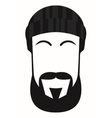 face of a man with beard and mustache vector image vector image