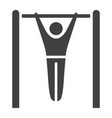 fitness pull up glyph icon fitness and sport vector image vector image