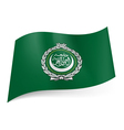 Flag of Arab League vector image vector image