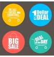 Flat design sale discount background vector image vector image