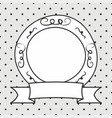frame on polka dots grey background vector image vector image