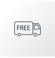 free shipping icon line symbol premium quality vector image vector image