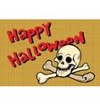 Happy Halloween skull and bones vector image vector image