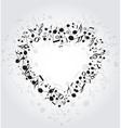 heart music vector image
